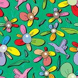 Flower Colorful Petal Seamless Pattern_eps Royalty Free Stock Images