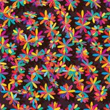 Flower colorful style golden loayout seamless pattern. This illustration is design and drawing flower colorful style place in seamless pattern stock illustration