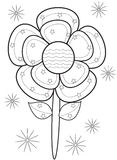 Flower coloring page Stock Images