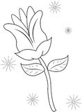 Flower coloring page Stock Photography