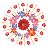 Flower. Colourful Flower Pattern Illustration Style Royalty Free Stock Photos