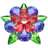 Flower composed of colored gemstones Royalty Free Stock Images