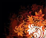 Flower composition. Floral design on a grunge background Stock Images