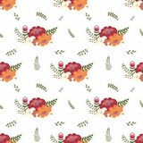 Flower compositions. Vector seamless pattern. For design and decoration of wallpaper, home textile, upholstery of furniture and other surfaces Royalty Free Stock Photos