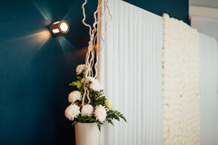 Flower compositions at a wedding banquet Stock Photography