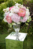 Flower compositions in wedding decoration Royalty Free Stock Image