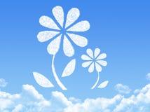 Flower concept cloud shape Royalty Free Stock Photos