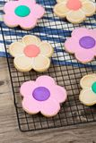 Flower Cookie. Selective focus. Stock Images