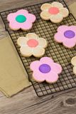 Flower Cookie. Selective focus. Stock Photography