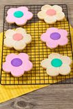 Flower Cookie. Selective focus. Stock Photo