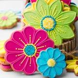 Flower cookies stock photos