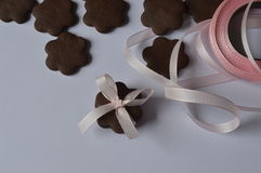 Flower cookies Stock Images