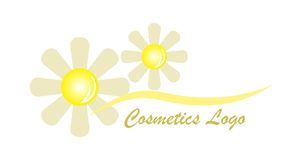 Flower cosmetics logo Royalty Free Stock Photography