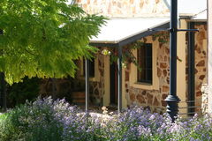 Flower cottage. Set nicely amongst the flowers in hahndorf australia stock images