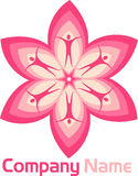 Flower couple logo Stock Photography