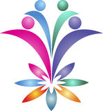 Flower couple logo Stock Images