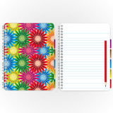 Flower cover. Wow ! Beautiful colorful cover and page sheet Royalty Free Stock Photo