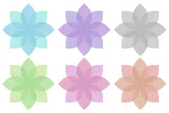 Flower created from textured paper royalty free illustration