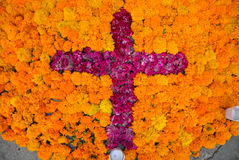 Flower Cross Royalty Free Stock Photography