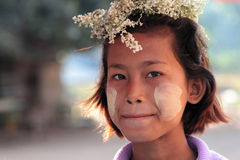 Flower crown in Myanmar Royalty Free Stock Images