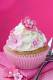 Flower cupcake Stock Images