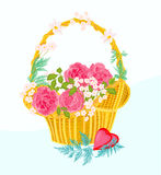 Flower cupcake greeting cards. Vector illustration eps 8  without gradients Royalty Free Stock Photo