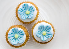 Flower cupcakes Stock Images