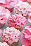 Flower cupcakes Stock Photography