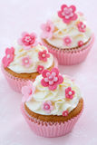 Flower cupcakes Stock Photo