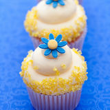 Flower cupcakes Royalty Free Stock Photography