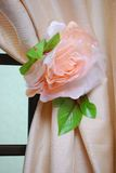 Flower Curtain Tie Back Stock Images