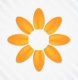 Flower. Cut out of paper. EPS10 vector floral background Royalty Free Stock Photography
