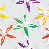 Flower cut out of paper. Stock Photo