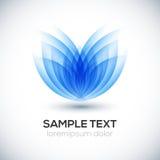 Flower 3D shape. Vector illustration Royalty Free Stock Image