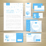 Flower dandelion cosmetics concept design. Corporate identity Stock Image