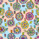 Flower deco page seamless pattern Royalty Free Stock Images