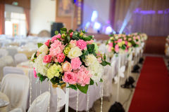 Flower for decorate. The colorful flower for decorate wedding party stock images