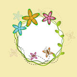 Flower decorated frame. Stock Images