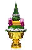 Flower Decorated On Tray With Pedestal Stock Photos