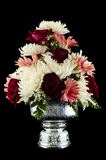 Flower decorated on tray with pedestal isolated. Stock Photos