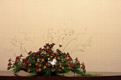 Flower Decoration. Artificial flower indoor home decoration Royalty Free Stock Photos