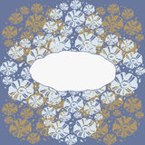 Flower decoration. Background with floral ornaments. Space for text Royalty Free Stock Photography