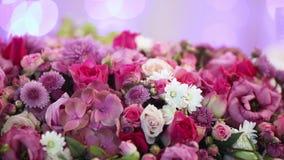 Flower decoration on bokeh stock video