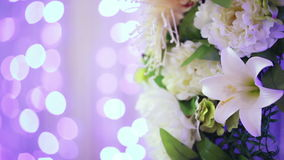 Flower decoration bokeh stock footage