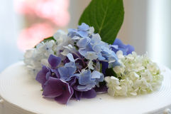 Flower Decoration on the cake stock images