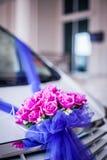 Flower decoration on car stock photos