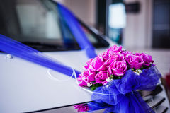 Flower decoration on car Stock Photography