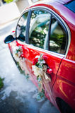 Flower decoration on car Royalty Free Stock Photography