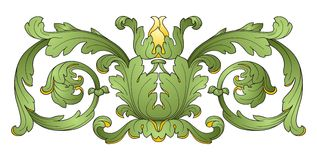 Flower decoration design element Royalty Free Stock Photos