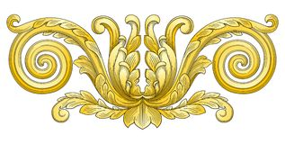 Flower decoration design element Royalty Free Stock Photo